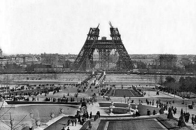 eiffel tower, paris, Construction, square,