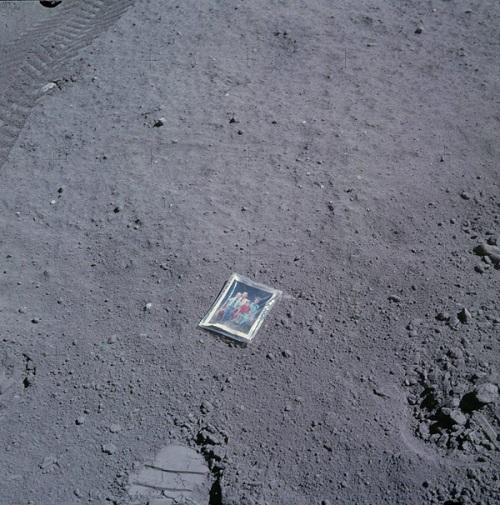 family photo, moon, astronaut, Apollo 16, Charles Duke