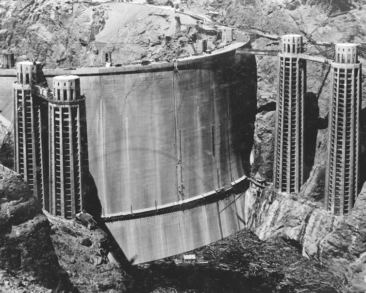 hoover dam, water, river, Construction, photo