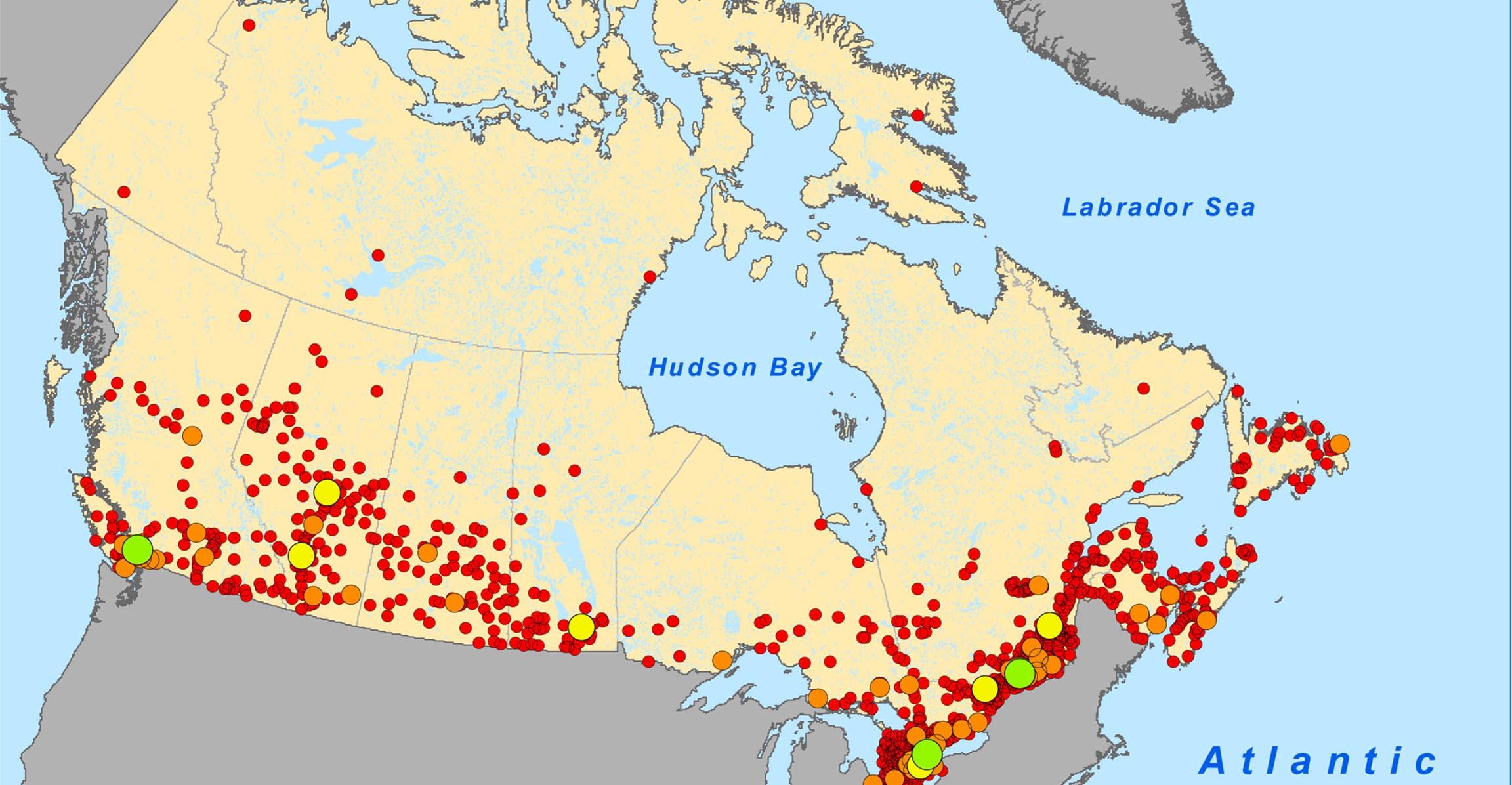 kanada térkép városokkal Ezen a kanadai térképen pörögnek most az amerikaiak | Az online