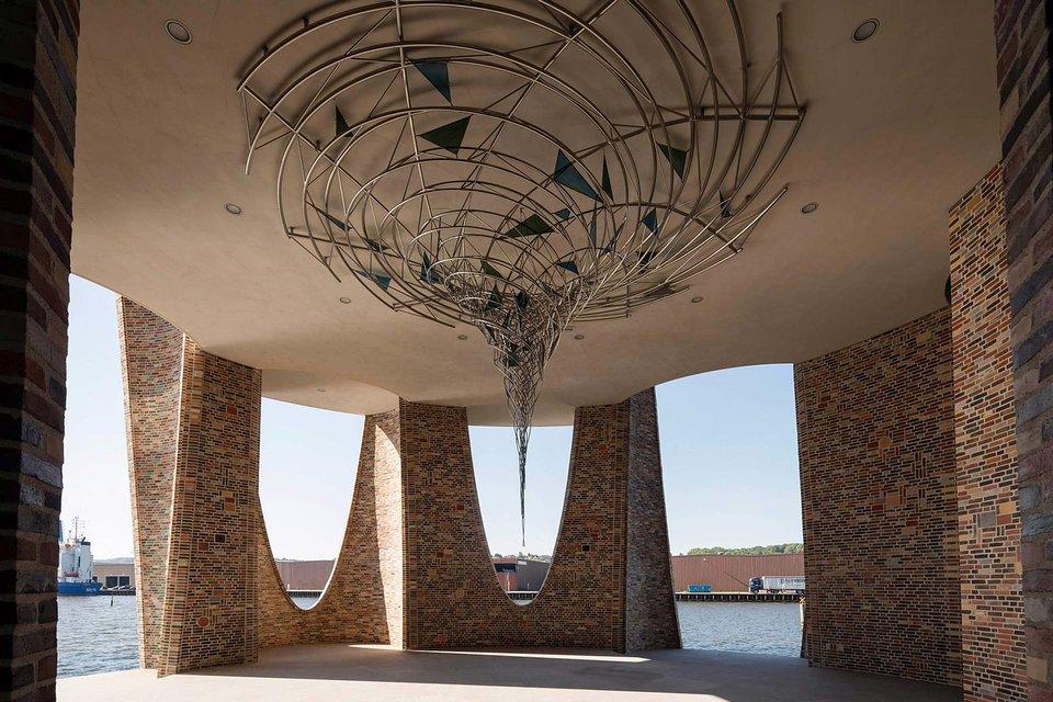 Olafur Eliasson, Building, Fjordenhus, house, Danish Fjord, Denmark, brick structure, Icelandic-Danish, artist, Vejle, travel, water, house submerged