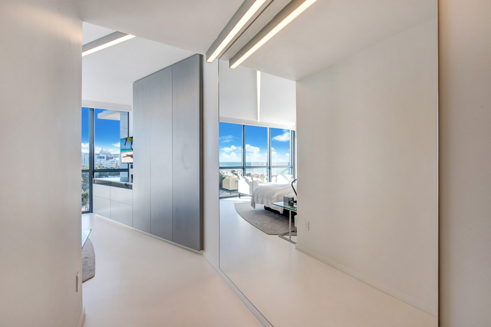design, luxury, penthouse, american, miami, modern, zaha hadi, beach, architect, villa, billionaire, house, usa, corridor