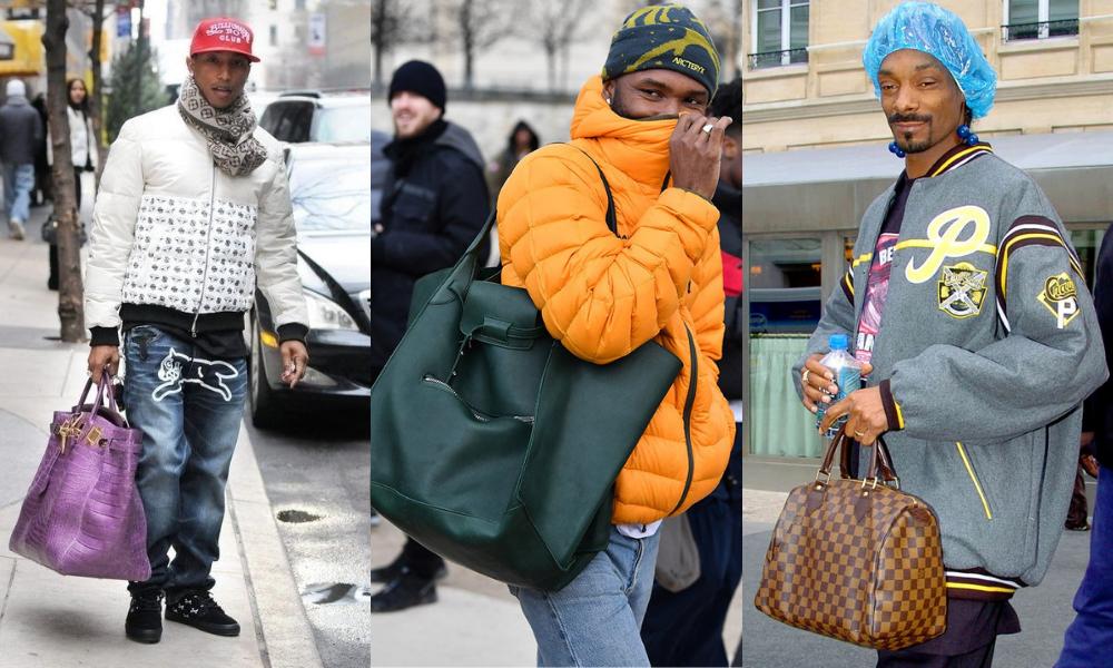dbcfe33fec Pharrell Williams és Snoop Dogg már évek óta villognak óriási táskákkal,  idén pedig Frank Ocean is belépett a klubba