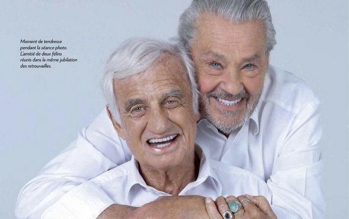 Jó nézni Belmondo és Delon új közös fotóját | Az online férfimagazin