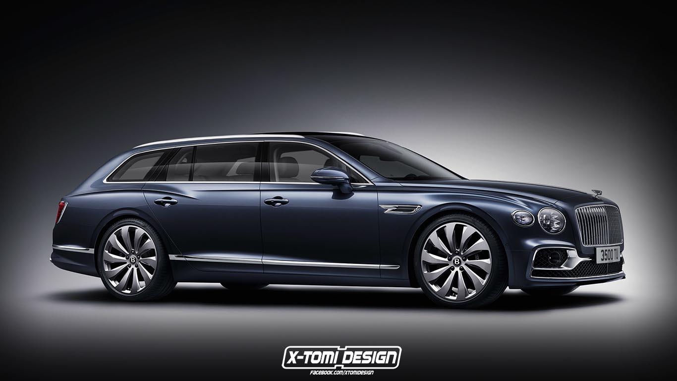 Ha tényleg lenne ilyen Bentley kombi, jobban mutatna a szabadidő-terepjáróknál