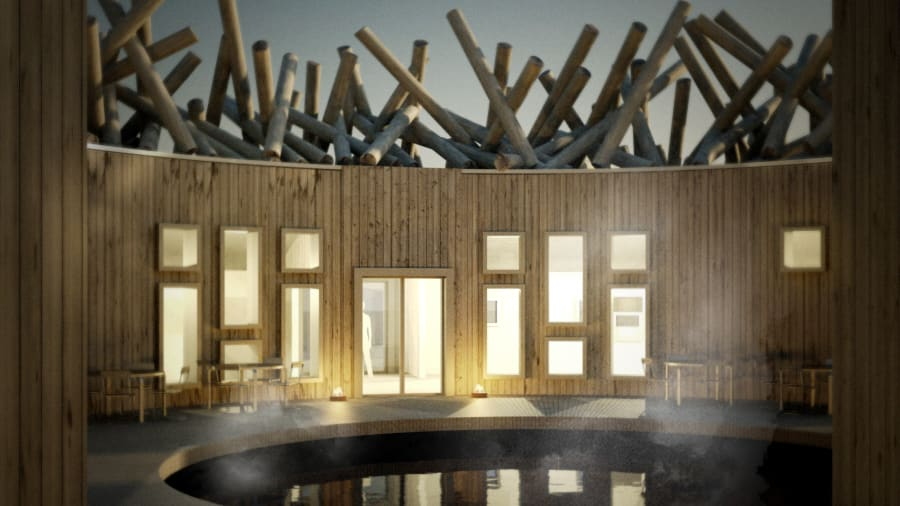 Arctic Bath, floating hotel, spa, Sweden, hotel, destination vacation, vacation, top travel, holiday, lake, ice, reservation, floating cabin, breakfast, nightly five-course dinner, dinner, Northern Lights hunt, Map Travel, local ingredients, Jonathan Cooper, unique building, building, hotel, architects, Bertil Harström, Johan Kauppi, wellness, Lule River, floating walkways, treatment room, saunas, outdoor cold bath, hot bath, Nordic countries, massage, wellness treatments, guest