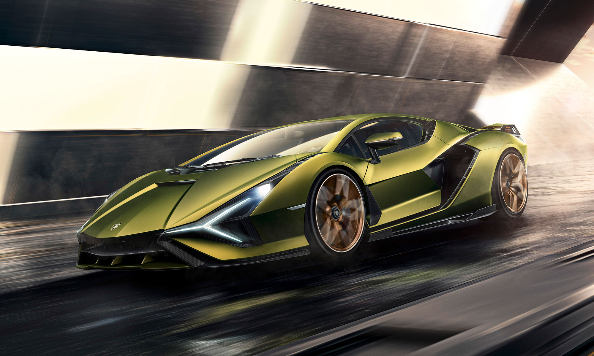Lamborghini Sian, Lamborghini, Sian, supercar, hybrid car, Electrified production car, lambo, hybrid super sports car, electrified model, online debut, Frankfurt Motor Show, 6.5-liter V12 naturally aspirated engine, 819 hp, horsepower, most powerful production, wheels, seven-speed automatic gearbox, Terzo Millennio,